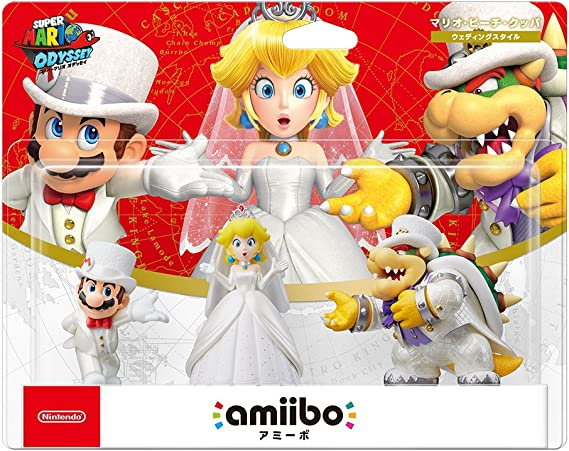 Amiibo Triple Wedding Set (Mario/Peach/Koopa, ver. Japan Import ...