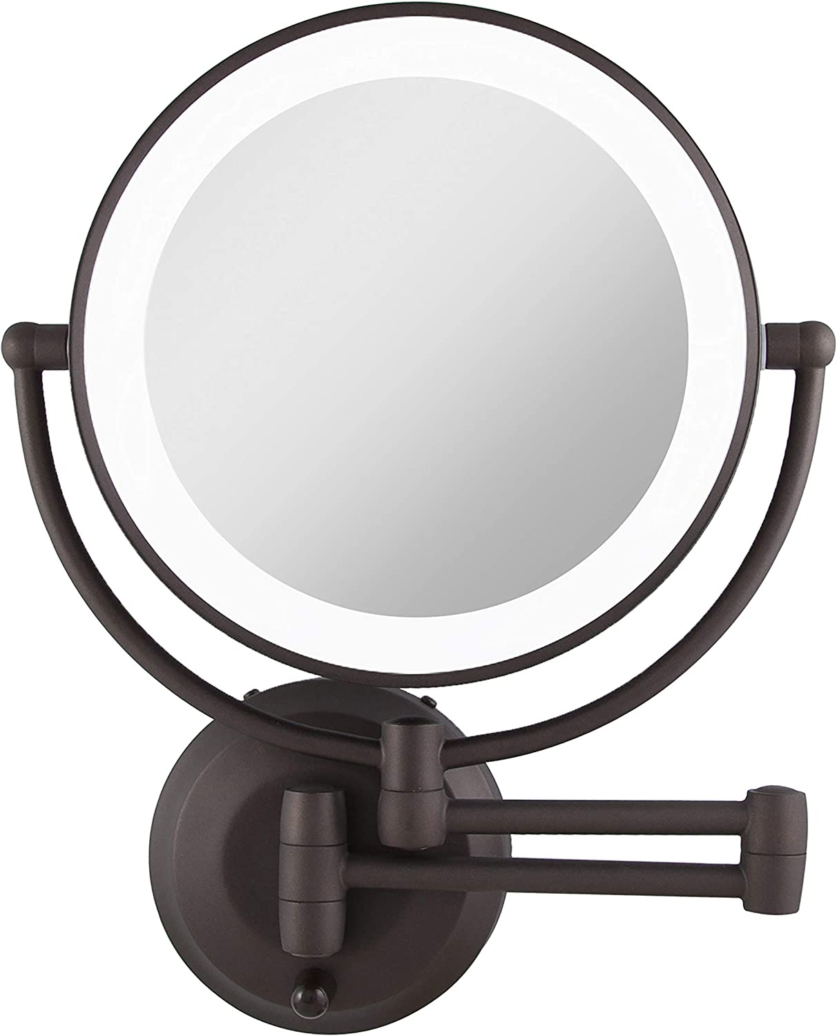 Zadro LED Dual Sided Wall Mounted Magnifying Makeup Mirror