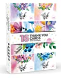 16 x WATERCOLOUR Floral Thank You Cards by Joy Masters™ Vol.2