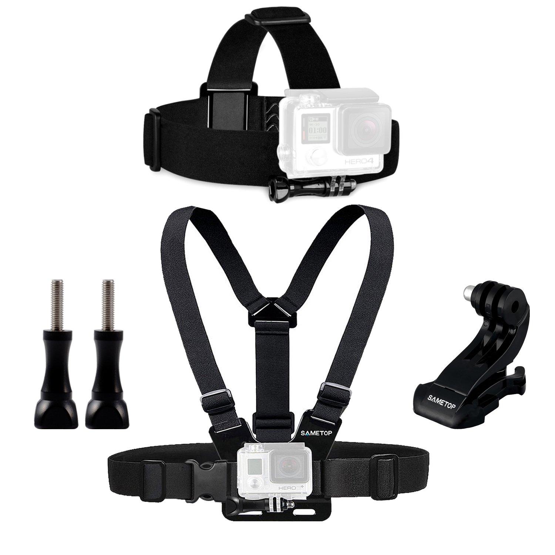 Sametop Headstrap Kopfband Halterung Kopfgurt Kompatibel mit GoPro Hero 6, 5, 4, Session, 3+, 3, 2, 1 Kameras SA-YG17