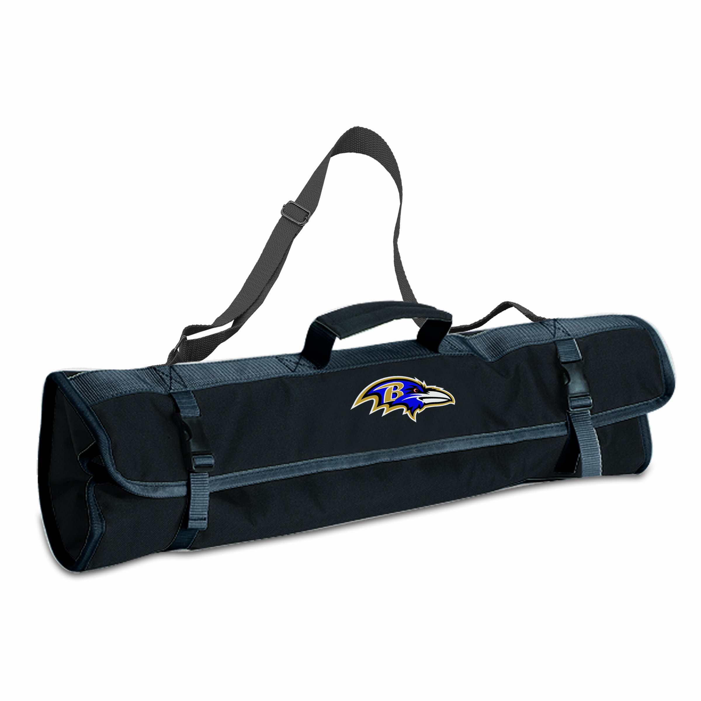 NFL Baltimore Ravens 3-Piece BBQ Tool Tote by PICNIC TIME (Image #1)