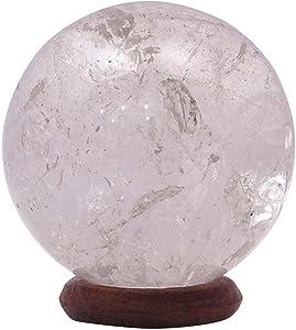 HARMONIZE White Quartz Stone Sphere Ball Reiki Healing Crystal Balancing Spiritual Gift Office Table Decor