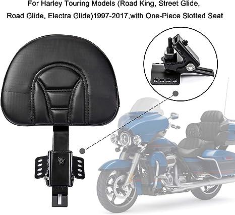 Psler Rückenlehne Plugin Fahrer Rückenlehne Verstellbares Fahrer Rückenlehnen Polster Sissy Bar Mit Einer Geschlitzten Basis Für Harley Touring Modelle 1997 2017 Auto