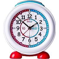 """Sveglia EasyRead per insegnare ai bambini a leggere l'ora con luce notturna,""""Minutes past"""" e""""Minutes to"""" con quadrante rosso e blu"""