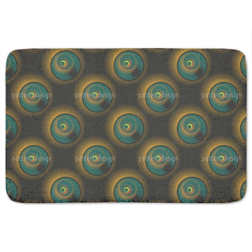Solar Eclipse Bathroom Rugs: Memory Foam (24 X 36 inch)