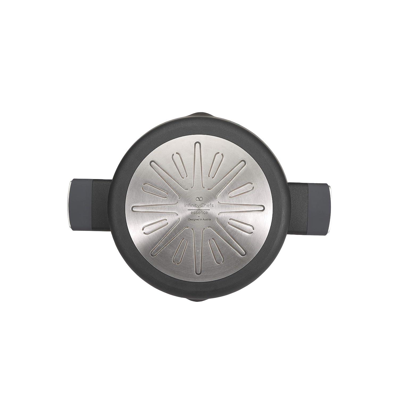 in alluminio forgiato Casseruola bassa 28 x 7,0 cm 3,5 l Bergner Q3127 adatta a induzione con benzina