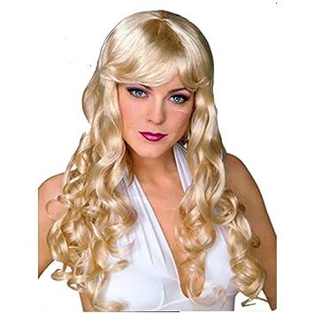 Lockenperücke Lang Blond Langhaarperücke Locken Lockige Haare