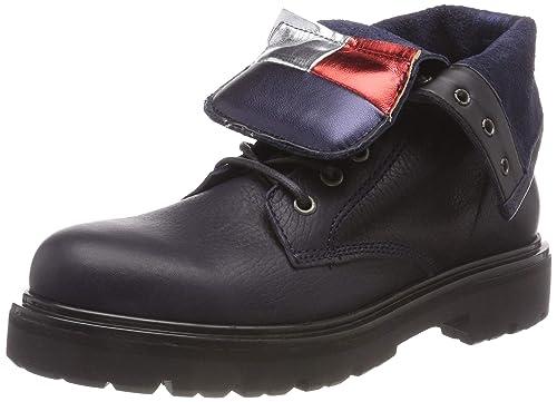 46bbf005 Hilfiger Denim Women's Big Flag Lace Up Boot Combat (Black 990), ...