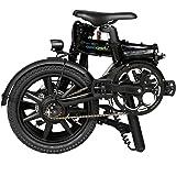 Qualisports TBM-Q1 型式認定モデル Acalieオリジナルカラー美しいつや折りたたみ電動ミニベロ 電動アシスト自転車 スマホ充電機能付き 16インチ