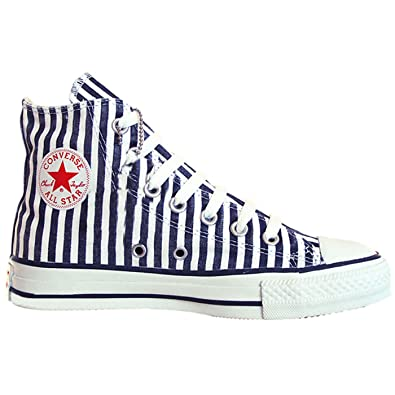 Converse All Star Chucks Weiß Blau Gestreift Limited Edition
