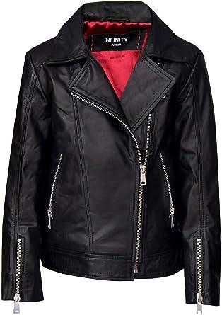 Girls Leather Jacket Kids Boys Motorcycle Outwear Biker Windbreaker Twins Dream