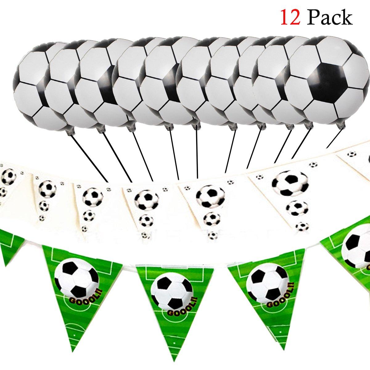 Hemore Decoración de Fútbol,Globos de Fútbol y Banderines de Cadena para la Fiesta de la Copa del Mundo, Fiesta Temática de Fútbol, y Otros ...