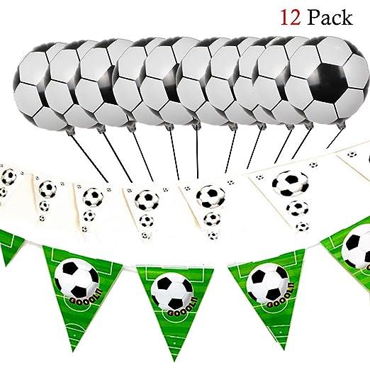 Set de decoración de fútbol con Globos de fútbol y ...