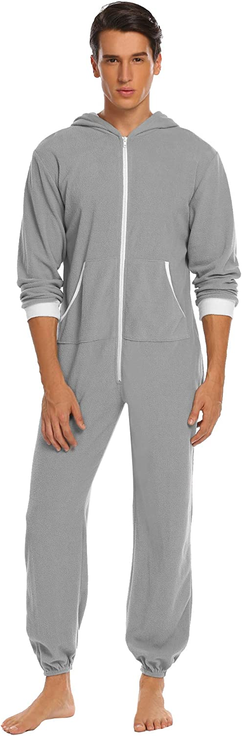 Ekouaer 0ne Piece Pajamas Womens Long Sleeve Onesie Non Footed Union Suit S-XXL
