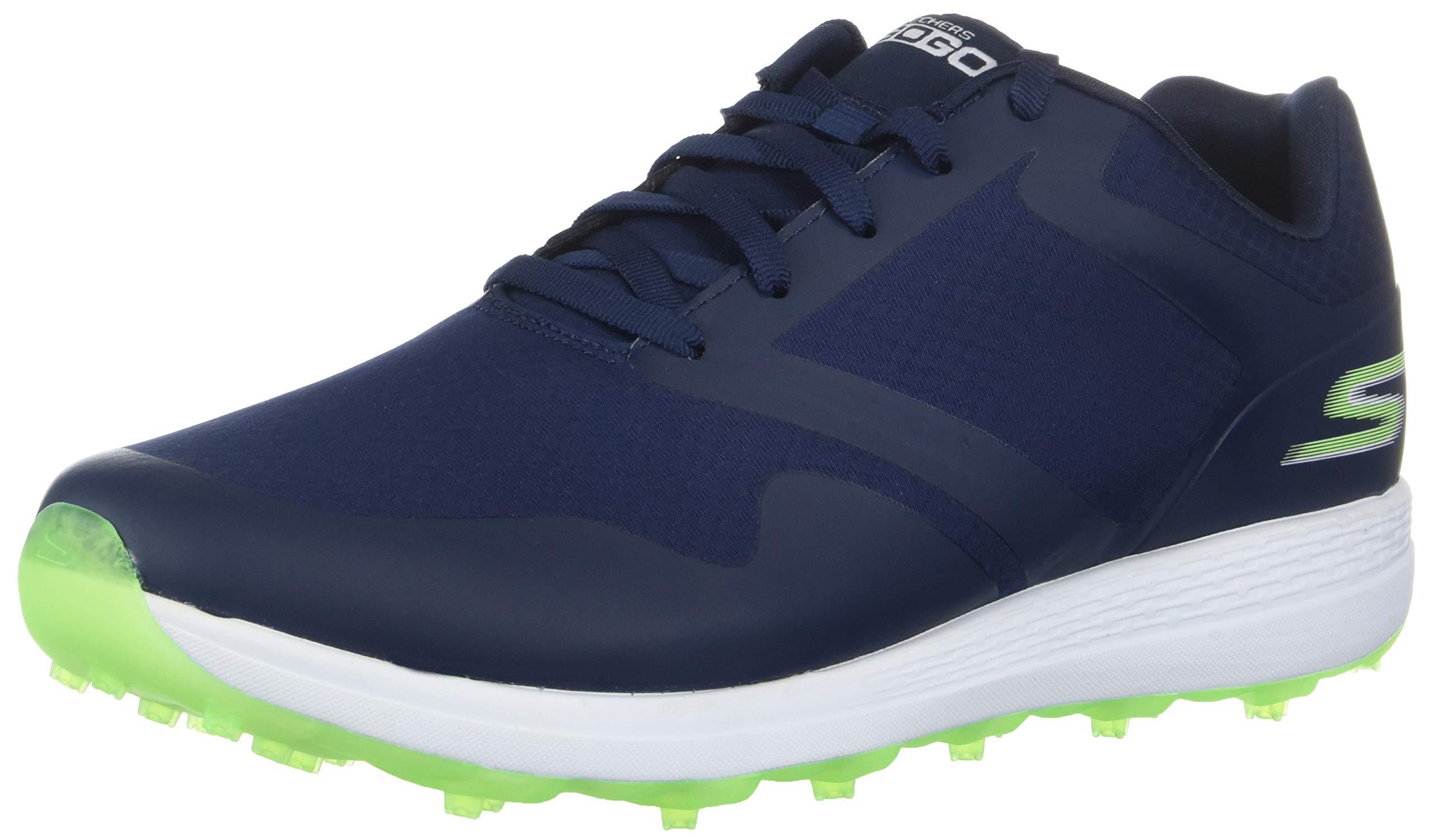 Skechers Women's Max Golf Shoe, Navy/Green, 8 W US by Skechers