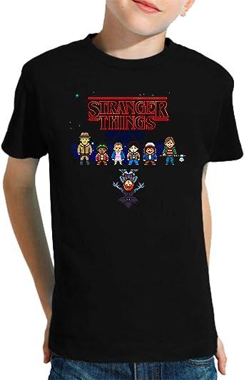 Camiseta de NIÑOS Stranger Things Once Series Retro 80 Eleven Will 014: Amazon.es: Ropa y accesorios