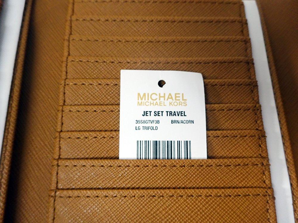 Michael Kors Jet Set Travel Large Trifold Leather Wallet Brown/Acorn by Michael Kors (Image #5)