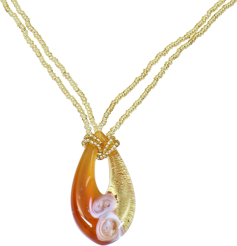 Aleksander Sternen Murano Star - Juego de 3 piezas de cristal de Murano para mujer, cadena con colgante de plata 925 chapada en oro