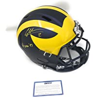 $299 » Charles Woodson Michigan Wolverines Signed Autograph Speed Full Size Helmet Heisman Inscribed Steiner Sports Certified