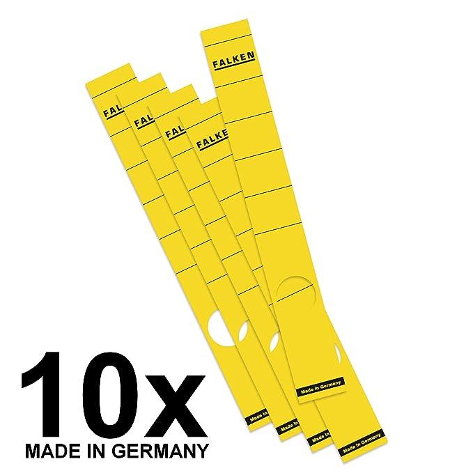 Falken Das Original 10er Pack Ordner-R/ückenschild Etiketten 36 x 190 mm selbstklebend f/ür 5 cm schmale Ordner gr/ün Made in Germany