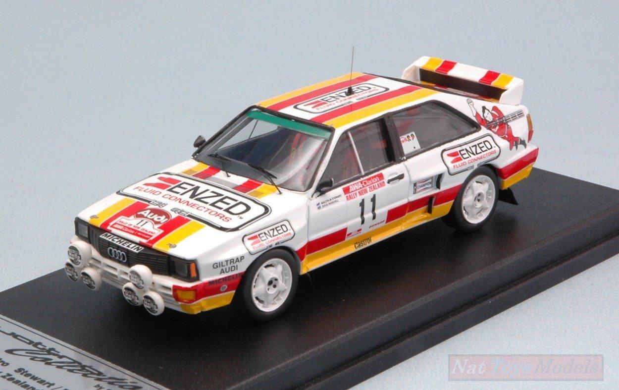 NEW TROFEU TF85NZ11 Audi Quattro A2 N11 Rally Zealand 1985 Stewart/Parkhill 1:43