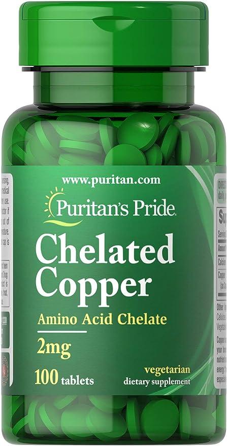 Puritans Pride Store Copper Chelate