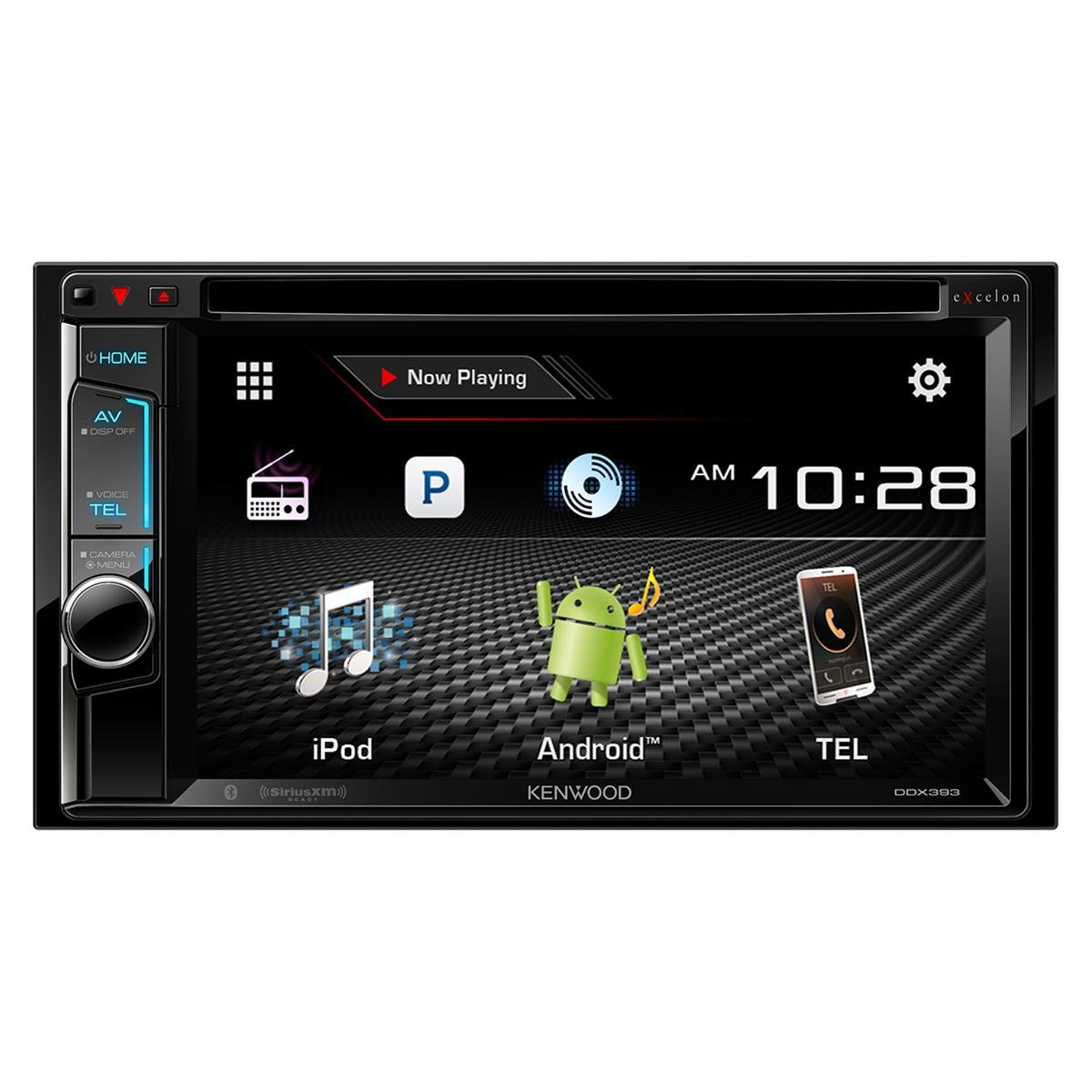 Amazon com kenwood ddx393 6 2 double din multimedia receiver with bluetooth electronics