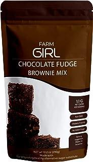 Farm Girl Chocolate Fudge Keto Brownie - Delicious Chocolate Fudge Taste - Low Carb Brownie, Gluten Free- High Fat, High Prot