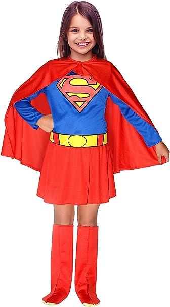 Ciao Supergirl - Disfraz de niña Original DC Comics (Talla 8-10 ...