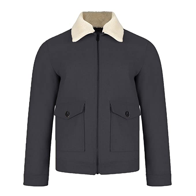 Threadbare - Abrigo - Camisa - Básico - con Botones - para Hombre Navy - Blue