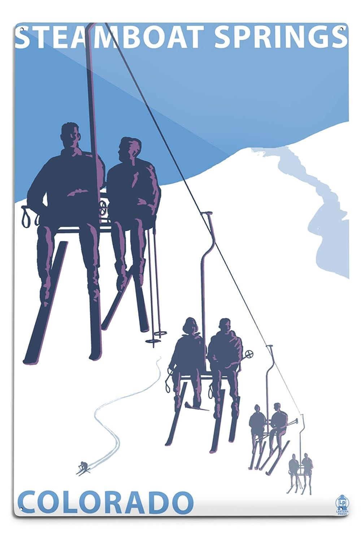 【メーカー直売】 Steamboat x Springs、スキーリフト 9 18 x 12 Art 18 Print LANT-31793-9x12 B06Y17Y3FL 12 x 18 Metal Sign 12 x 18 Metal Sign, フジサトマチ:12ff018f --- granjalailusion.com.ar