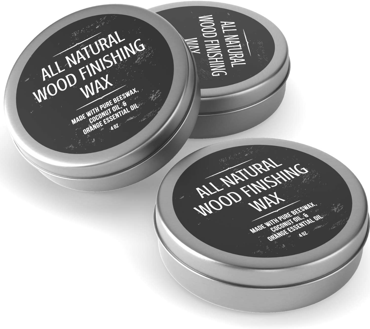 All Natural Wood Seasoning Wax Tin by Virginia Boys Kitchens - 4 Ounce Coconut Oil and Beeswax Food Safe Sealer for Cutting Board, Bowl and Houseware… (3)