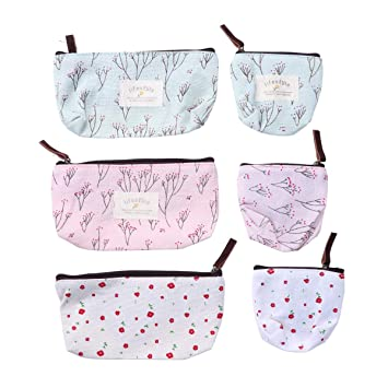 Amazon.com: Frcolor 6pcs bolsas de maquillaje Countryside ...