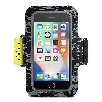 new arrival fd9ea 9db68 Belkin Sport-Fit Pro Fitness Armband for iPhone 8 Plus/7 Plus/6S Plus/6  Plus (Full Phone Access, Case Compatible, Adjustable Fit, Sweat Resistant  ...