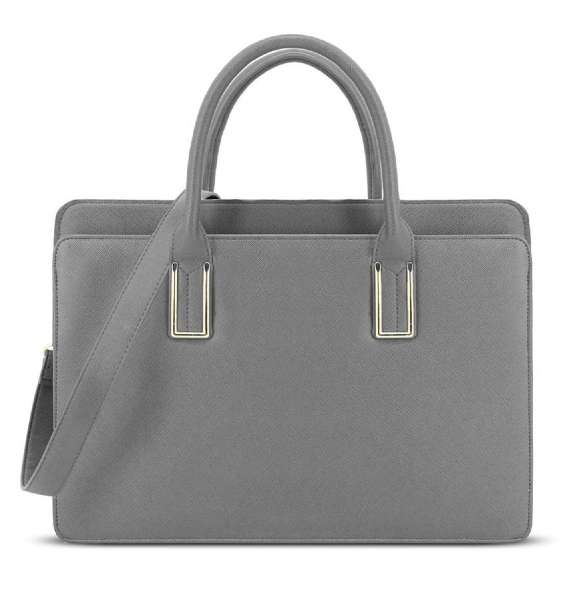 374dc3d2e3f7 LYDC Pure Colour Handbags for Office Lady London with Optional Shoulder  Straps and Simple Design - Grey  Amazon.in  Bags