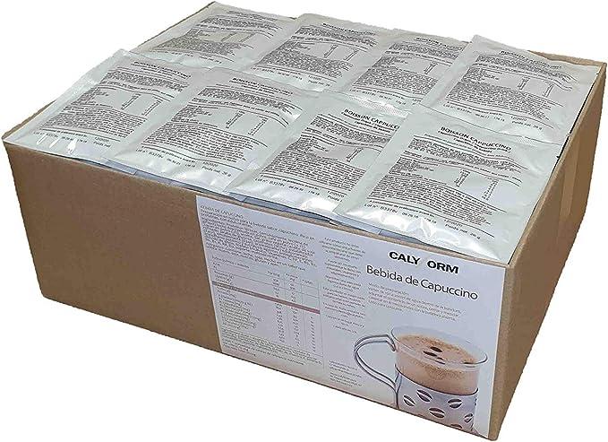 Bebida de capuchino proteina para deportistas y perder el peso caja de 100 unidades (viene un sobre muestra de regalo)
