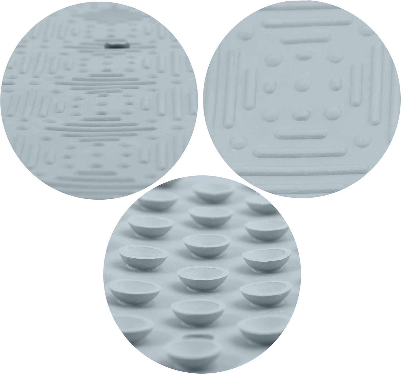 Spirella Duschmatte Ruby Badematte Duscheinlage antibakteriell rutschfest mit Saugn/äpfen Naturkautschuk 53 x 53 cm Taupe ca