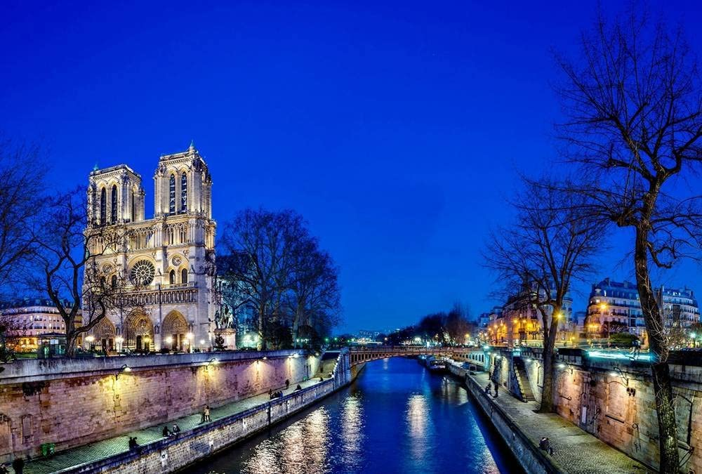 Notre Dame Cathedral Art Print Canvas Poster,Home Wall Decor(20x30 inch)