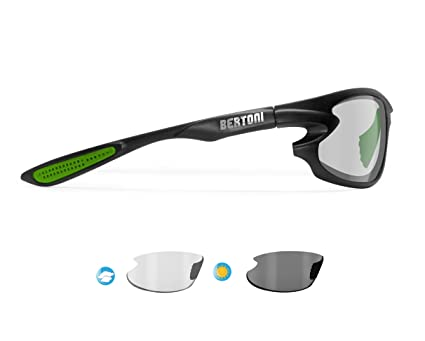 8570150ccde Bertoni Polarized Sports Sunglasses Photochromic for Men Women Running  Cycling Fishing Golf Baseball - 676 Italy