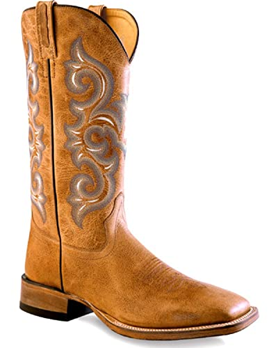 5fe00d3f580 Old West Men's Golden Western Boot Square Toe