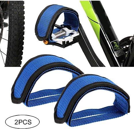 Fixed Gear Bike bicicletta pedale toe cinghie in nylon per caviglie binding Band cinghie cestino da bicicletta