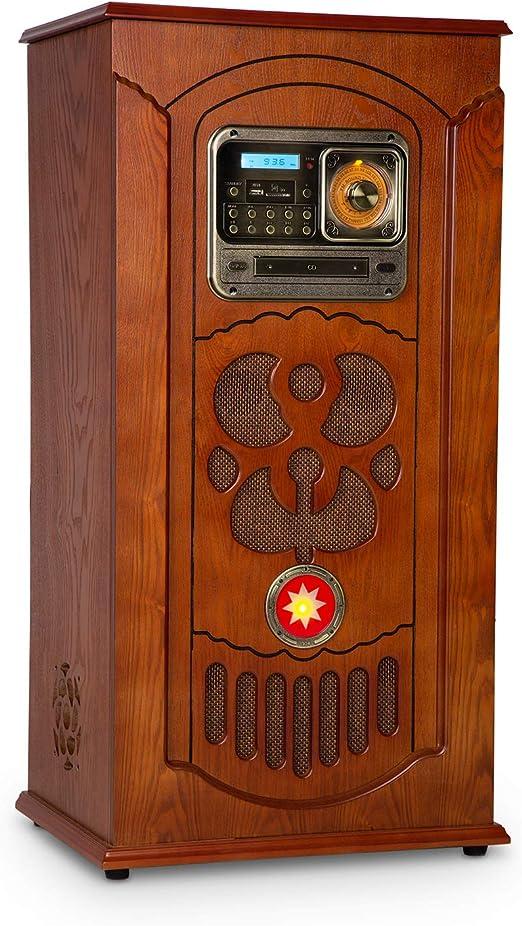 auna Musicbox Jukebox Equipo estéreo Retro - Equipo