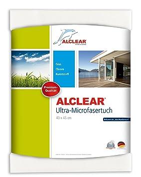 Alclear 950001 - Toallita de microfibra para limpiar ventanas (40 x 45 cm), color blanco: Amazon.es: Coche y moto