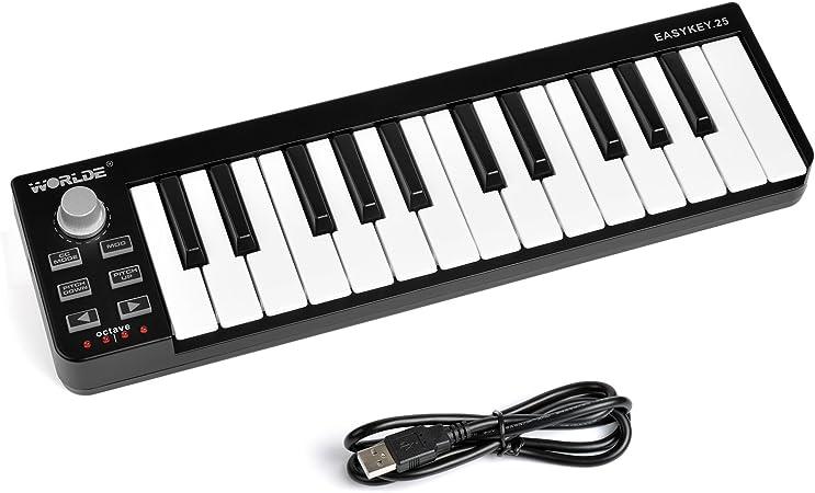 Mindou - Control de teclado profesional con 25 teclas USB y ...