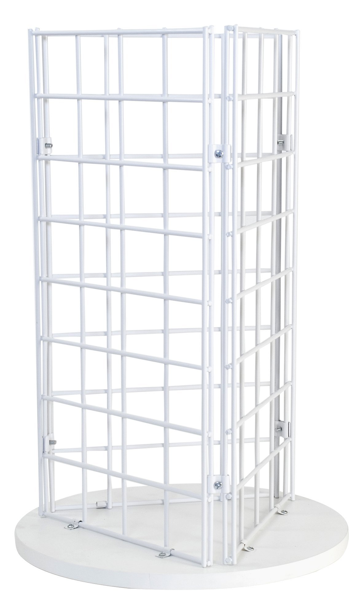 KC Store Fixtures Countertop Spinner Display, 3-Sided Grid 3'' Oc