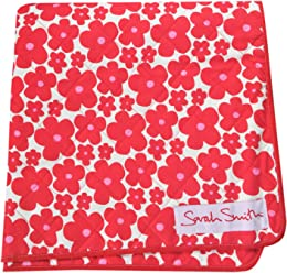 Sarah Smith red 'moo' picnic blanket