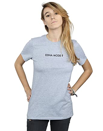 5b08aa1c5693a3 Disney Damen The Incredibles 2 Edna Mode Boyfriend Fit T-Shirt: Amazon.de:  Bekleidung