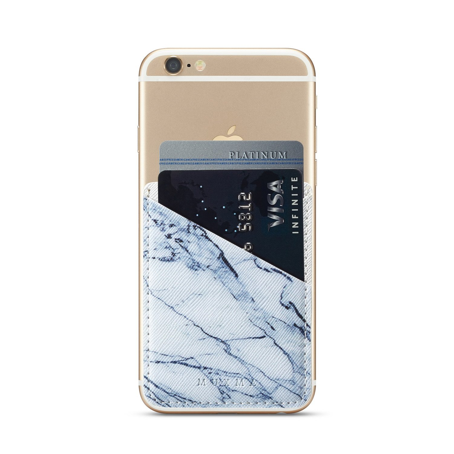 (Three) Stretchy Marble Cell Phone Stick On Wallet Card Holder Phone Pocket iPhone, Android All Smartphones (Marble Pattern) by Heast (Image #9)