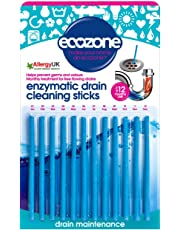Ecozone Enzymatic Drain Sticks – Helps to Prevent Blockages Forming  pack of 1 (12 pieces)