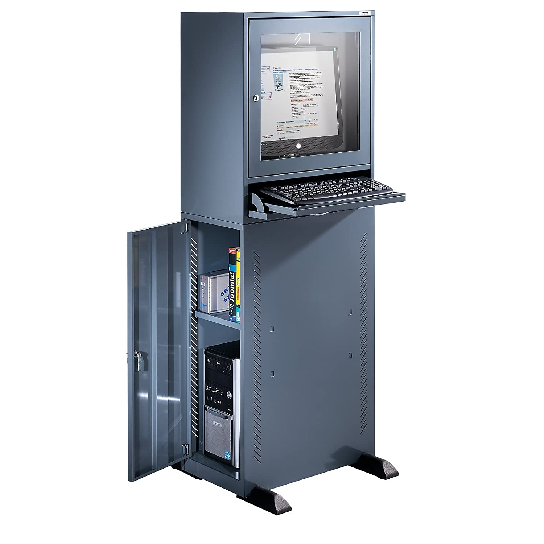 Quipo Computerschrank Standardausfuhrung Blaugrau